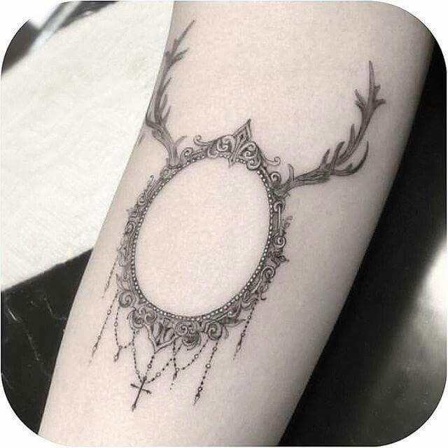 Deer Frame Tattoo | Tattoo | Pinterest | Framed tattoo, Tattoo and ...