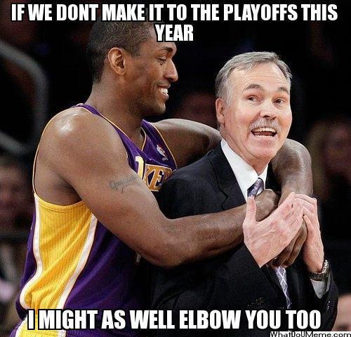 La Lakers Playoffs Or Elbows La Lakers Nba Schedule Nba Memes