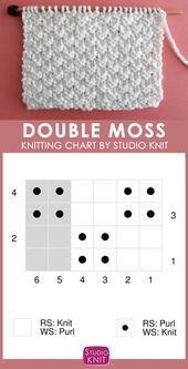 Photo of How to Knit the Double Moss Stitch Pattern