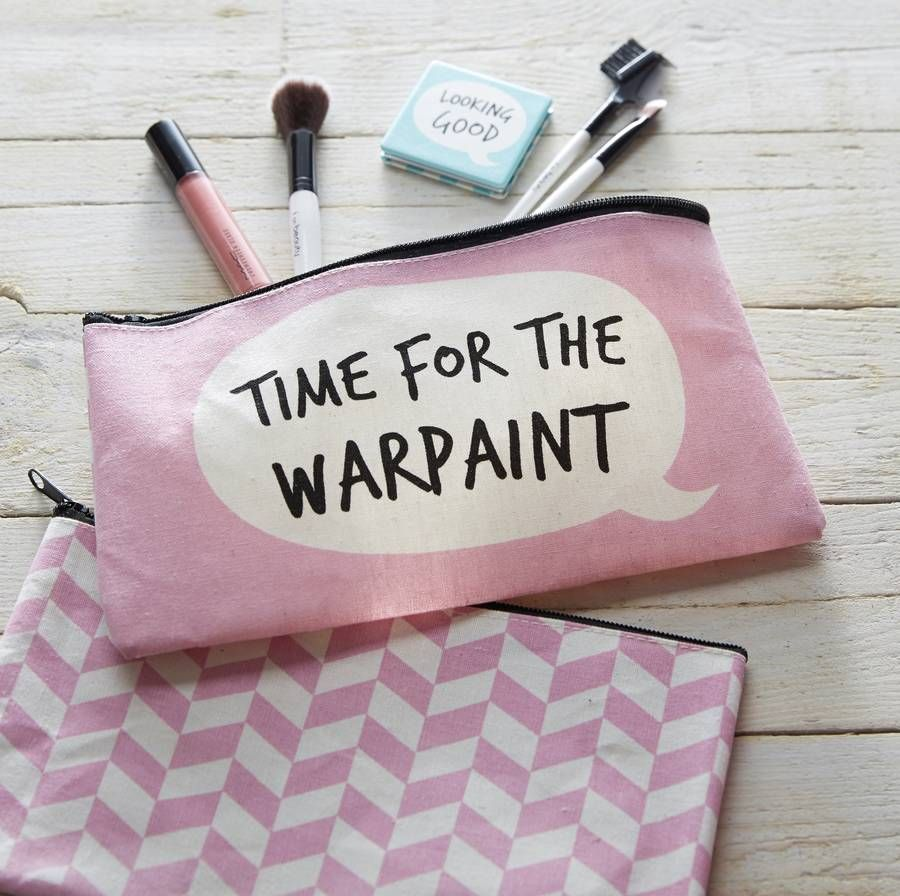 Pink make up bagFun and funky cosmetics bag with a