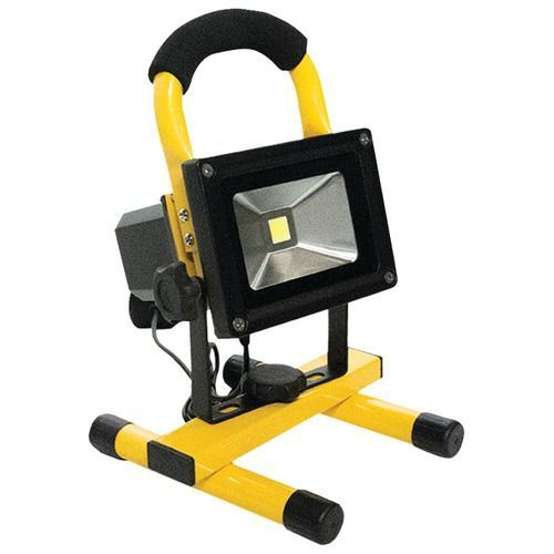 Race Sport White Led Portable Work Light 10 Watts 750 Lumens Rechargeable Work Light Portable Led Flood Lights