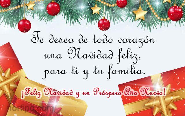 Te deseo de todo coraz n una navidad feliz para ti y tu - Deseos de feliz navidad ...