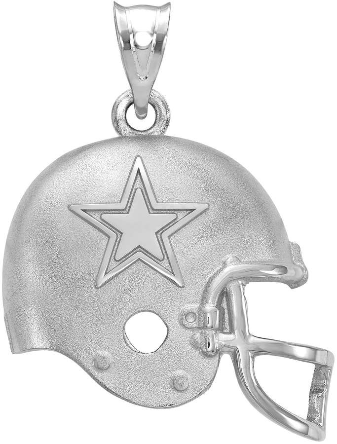 FOOTBALL COWBOYS EMBLEM ANTIQUE SILVER CHARM W//LOBSTER CLASP OR BAIL NFL