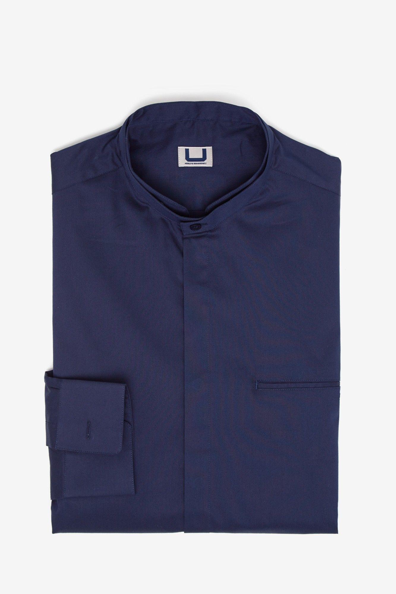94742f1537 Camisa de popelín con cuello mao - camisas