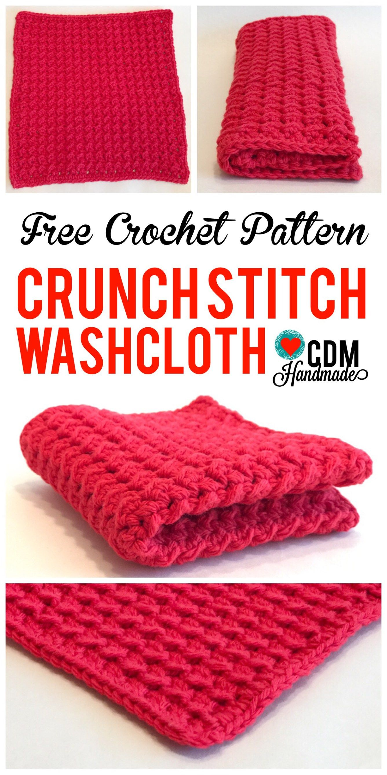 Check out this quick and easy FREE crochet washcloth pattern for my ...