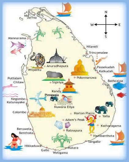 Pinnawala Carte Sri Lanka.Nature And History Beckon Tourists To Sri Lanka Nature