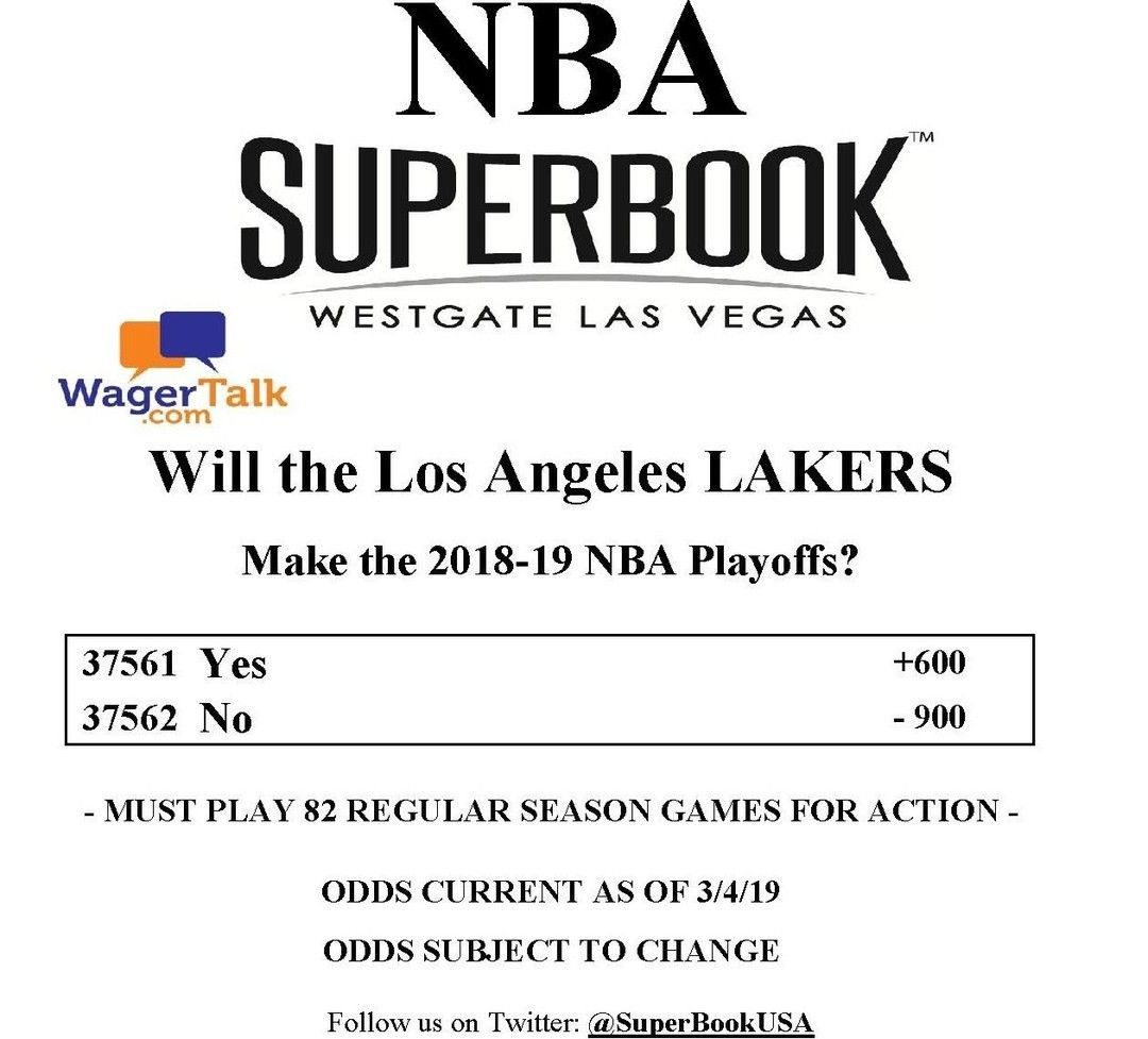 Wagertalk Posted To Instagram Will The Los Angeles Lakers Make The 2018 19 Nba Playoffs The Los Angeles Lakers Enter M Nba Playoffs Lakers Los Angeles Lakers