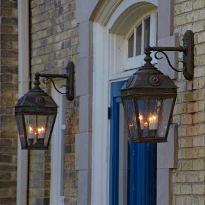 French Country Exteriors Home Exterior Lighting Lantern