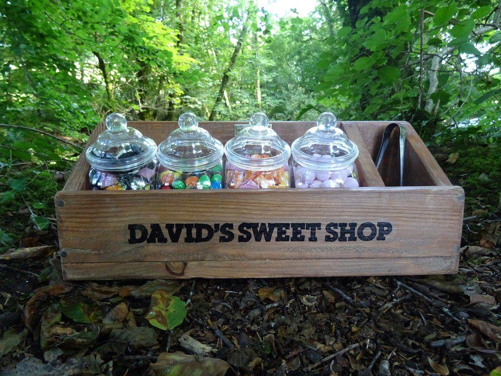 Personalised Sweet Shop In Country Oak Childrens Toy Boxes Childrens Toy Personalised