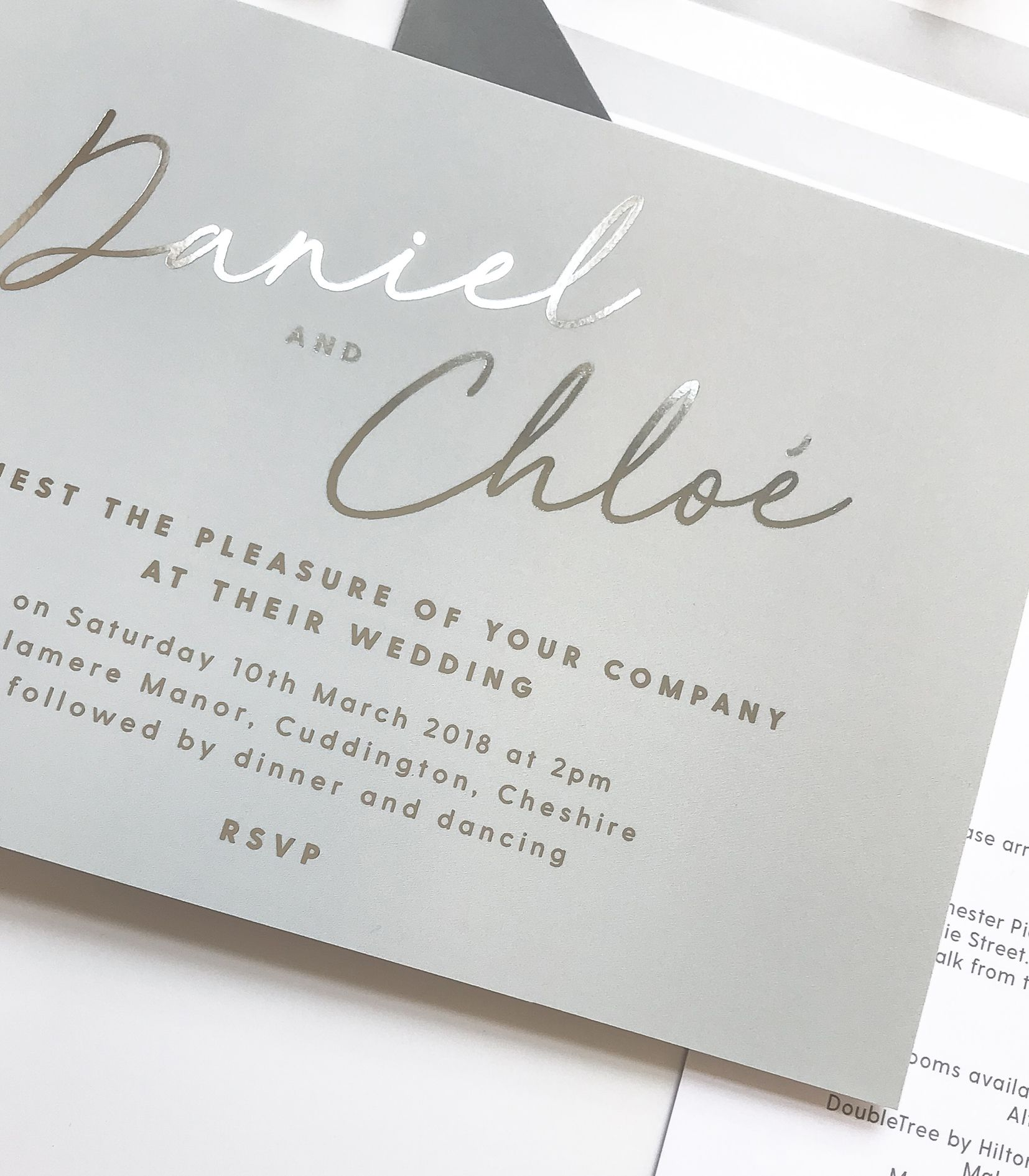 Rachel foil printed Wedding Invitations | Belly bands, Weddings and ...
