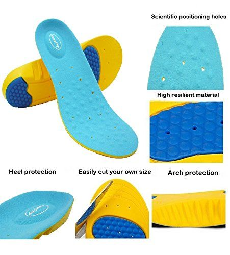 Happystep® full-length Memory Foam Gel Insoles-arch support /& shock absorption