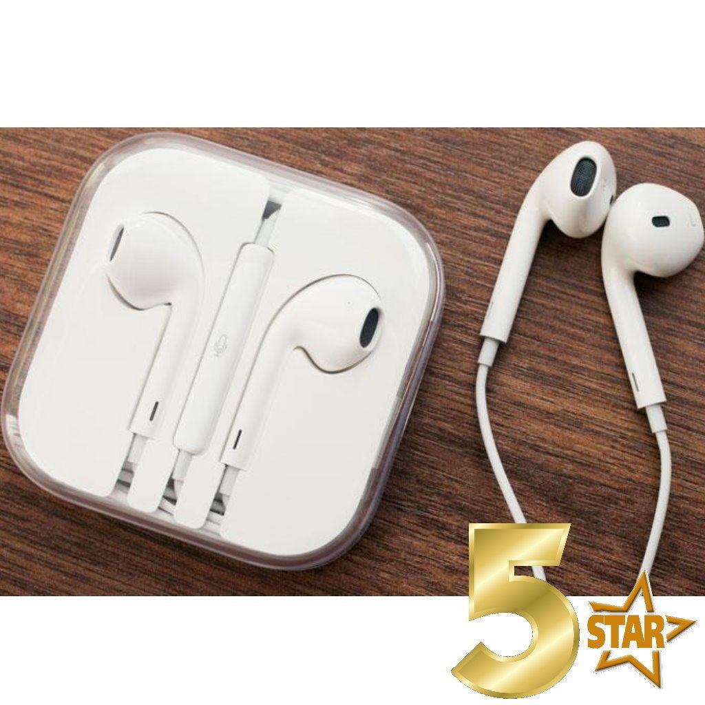 New iPhone 5 SE 6 6S Plus Headset Earphones w/ Remote & Mic With