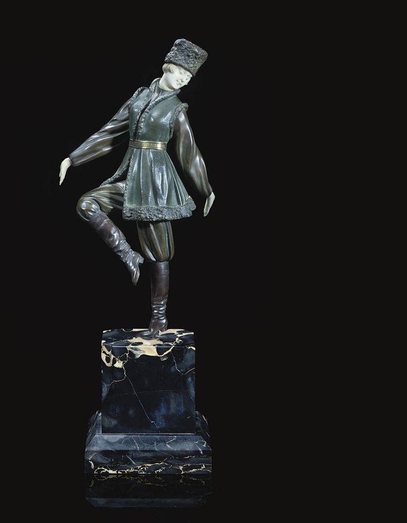 DEMETRE CHIPARUS - RUSSIAN PEASANT DANCER, CIRCA 1925