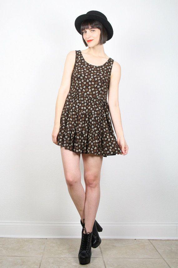 vintage grunge dress 1990s dress 90s dress babydoll dress