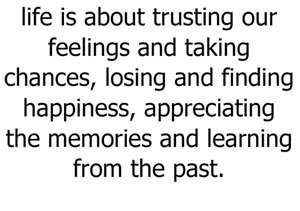 I've Learned from my past