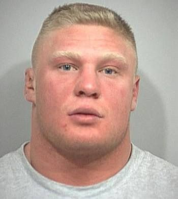 Even His Mugshot Is Cute Mug Shots Brock Lesnar Celebrity