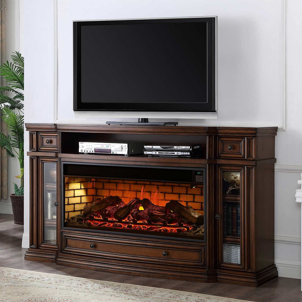 Klamath 75 Fireplace Mantle Fireplace Mantle Tv Console With