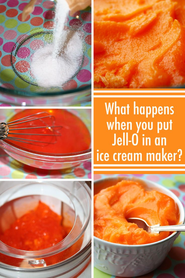 What Happens When You Put Jell-O in an Ice Cream Maker? — Jessie Unicorn Moore