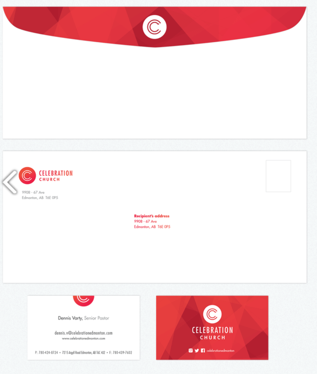 Church Letterhead Envelope And Business Card  Church Branding