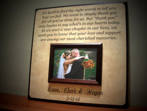 Parents Wedding Gift Personalized Picture Frame Custom Anniversary ...