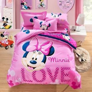 Best Twin Queen Size Minnie Mouse Pink Duvet Cover Bedding Set 400 x 300