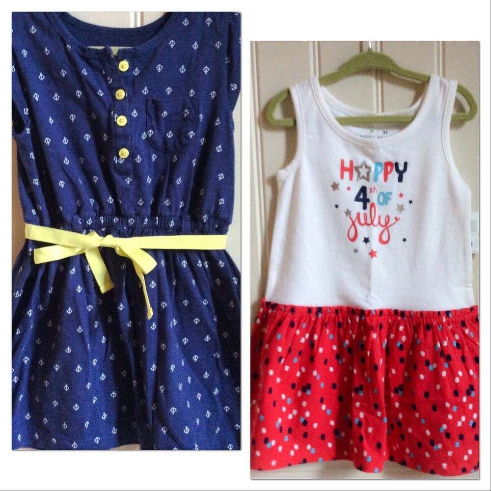 Lot Of Toddler Girl 3t Dresses Summer 4th July Holiday Nwt Guc Summer Dresses 3t Dress Toddler Girl [ 1000 x 1000 Pixel ]