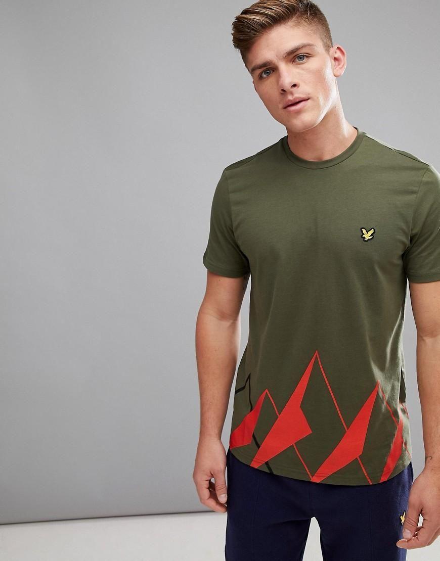 #ASOS - #Lyle & Scott Fitness Lyle & Scott Fitness Douglas Graphic Print T-Shirt In Green - Green - AdoreWe.com