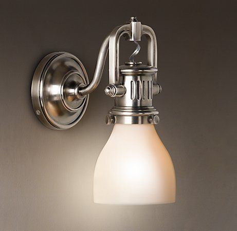 1920s Factory Sconce Bathroom Light Fixtures Bathroom Lighting Contemporary Bathroom Lighting