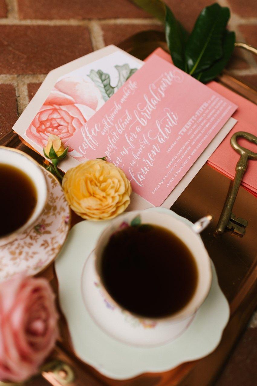 Chic Coffee-Loving Garden Bridal Shower Ideas   Bridal showers ...