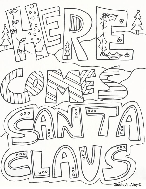 Christmas Coloring Page | adult coloring | Pinterest | Adult ...