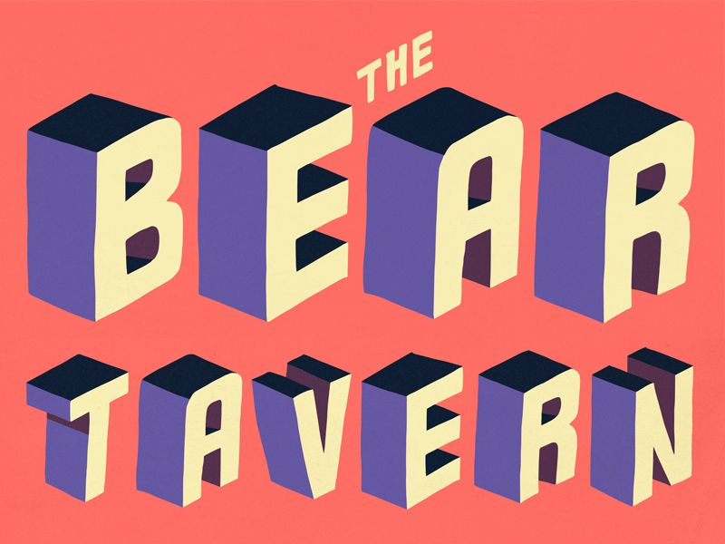 Bear Tavern | Typography and Lettering | Typography letters