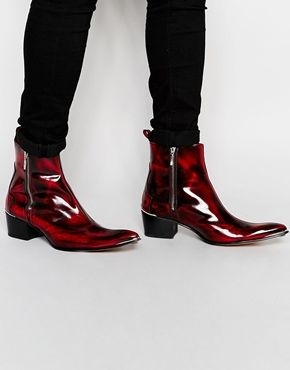 66b3e6af8c0 Jeffery West Zip Cuban Heel Boots