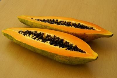 Papaya is rich in enzymes good for your skin.