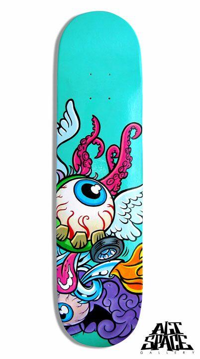 Fierce Skateboard By Luisdiazartist On Deviantart Skateboard Art Design Skateboard Deck Art Painted Skateboard