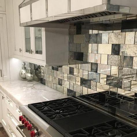 Strip Tile- Antique Mirror Subway Tiles in 2018 Dream Home