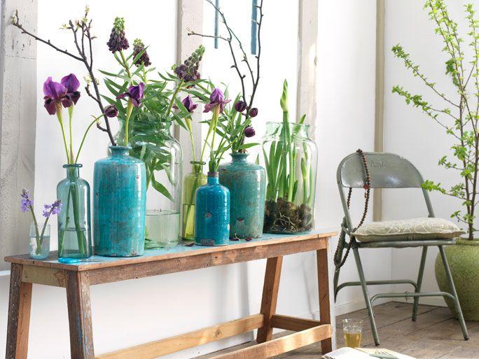 Große Vasen grosse vasen in blautönen deko floral