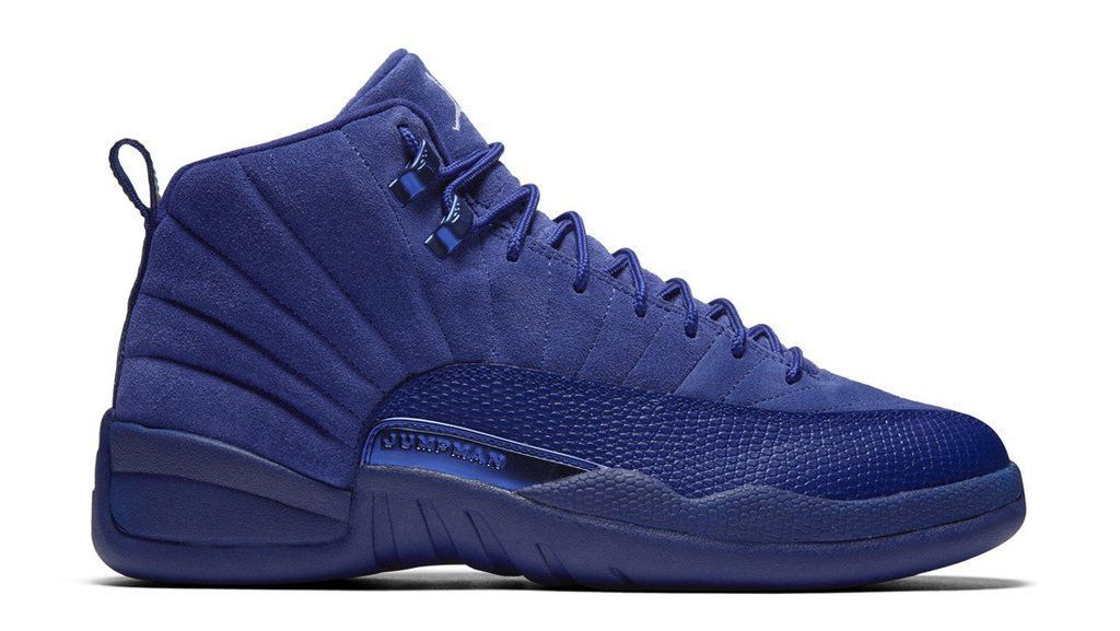 f87055a3db1 Mens Nike Air Jordan Retro 12 Premium Blue Suede 130690 400 | Air ...