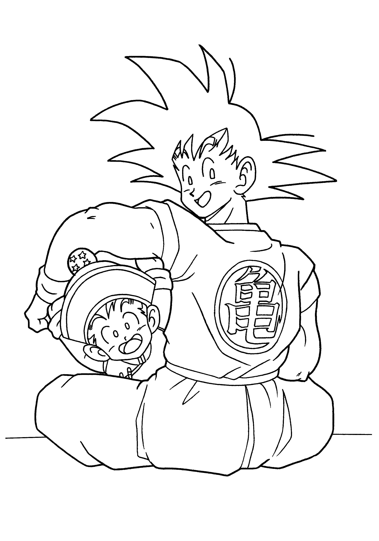 Dragon Ball Z Goku And Gohan | Dragon Ball Z Coloring Pages ...