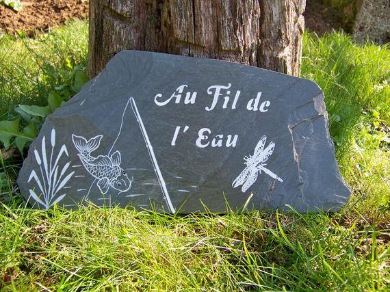 Decoration De Jardin Suspension En Ardoise Panneau Pancarte De