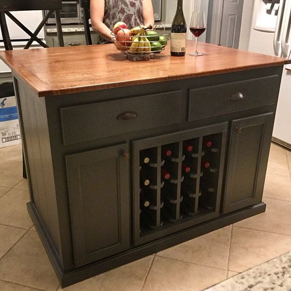 Kitchen Island With 10 Overhang And Wine Rack Kitchen Island Furniture Kitchen Design Decor Kitchen Decor