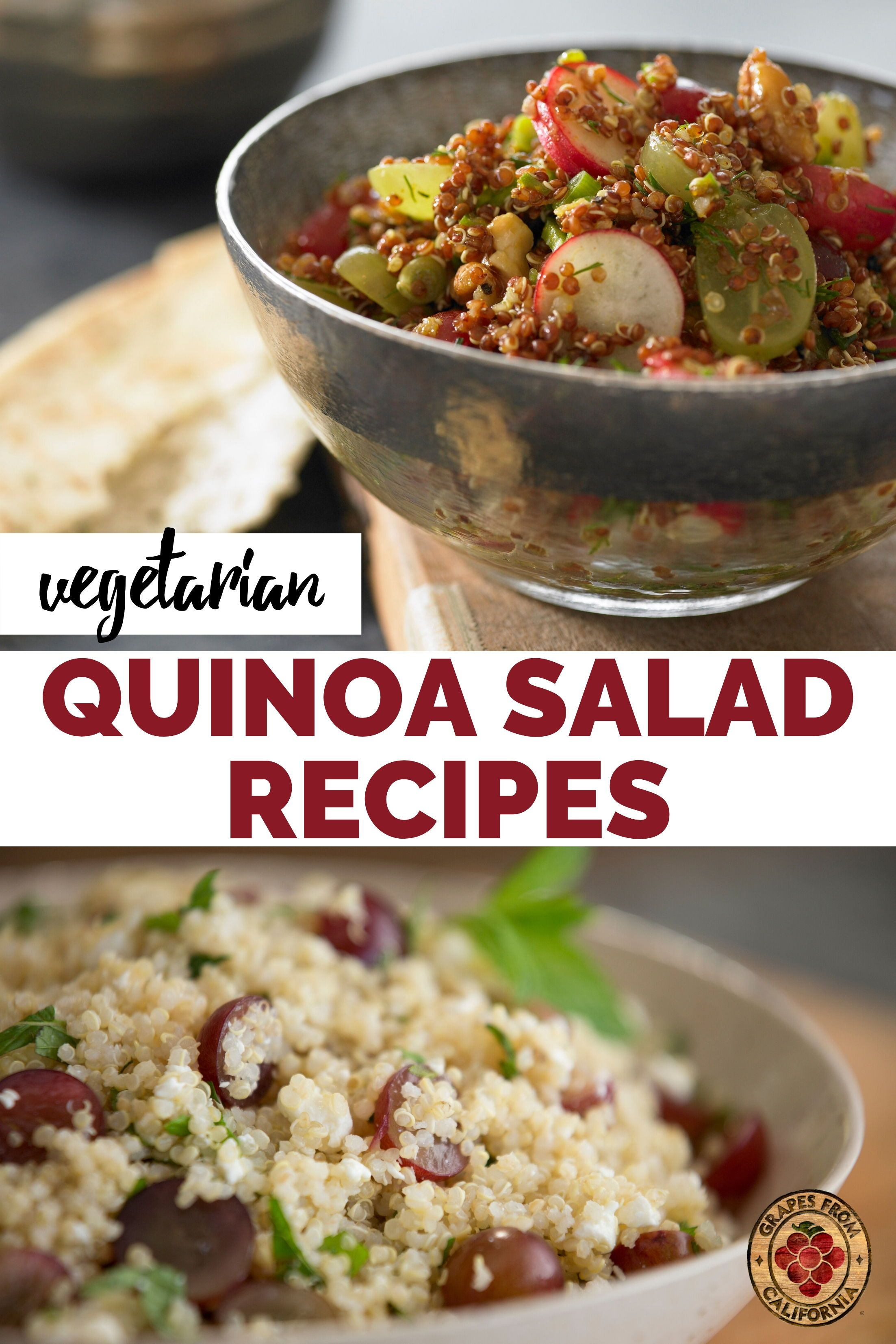 Vegetarian Quinoa Salad Recipes In 2020 Quinoa Salad Recipes Vegetarian Quinoa Salad Salad Recipes