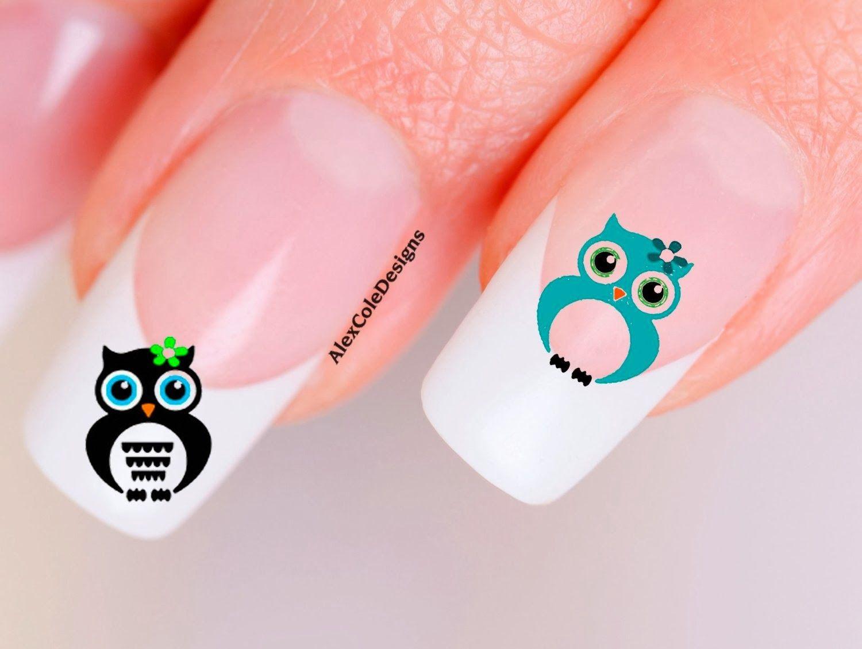 Fabulous Cool Stuff: Owl Nail Art Decals | Nails♥ | Pinterest | Owl ...