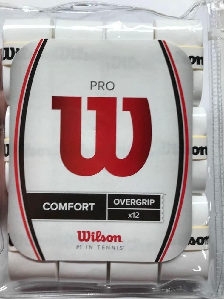 Wilson Wrz4016wh Tennis Pro Comfort Overgrip Pack Of 12 White Fun Sports Tennis Wilson