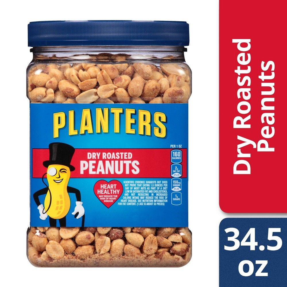 Planters Dry Roasted Peanuts 34 5oz Peanut Snacks Roasted Peanuts Gourmet Recipes