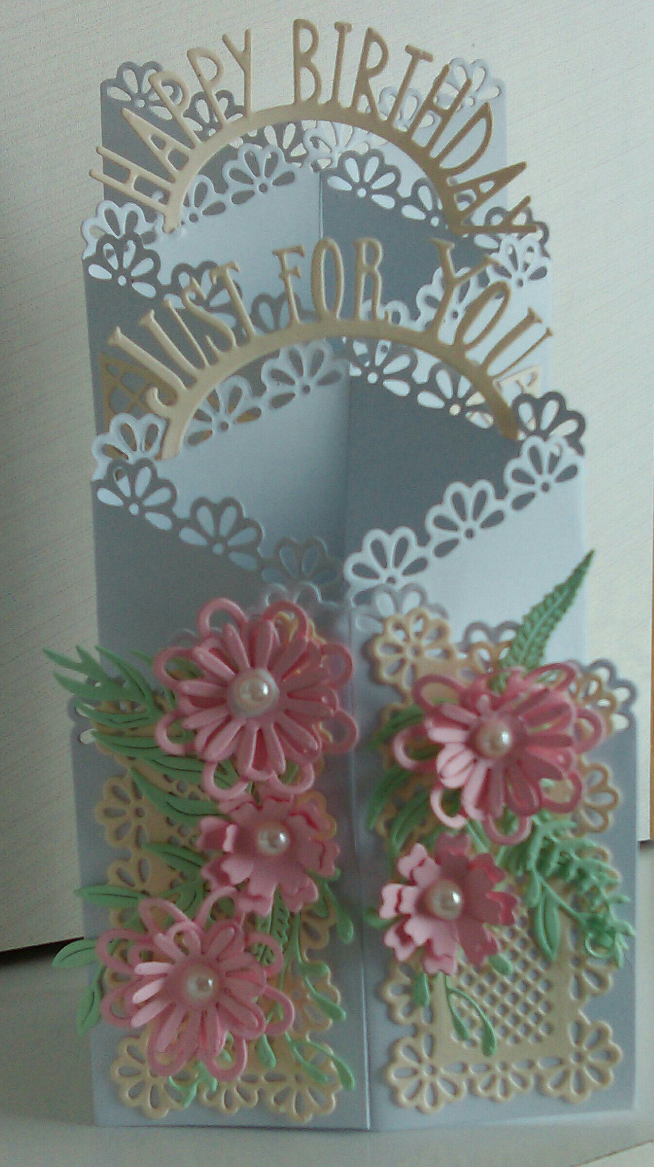 Tattered Lace Zigzag Die Card Shaped Cards Fancy Fold Cards Cards Handmade