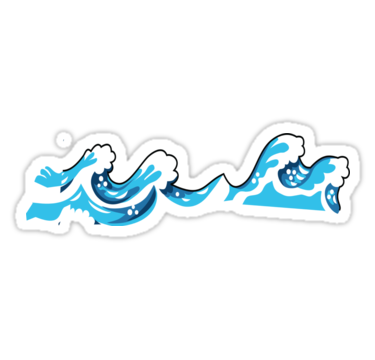 Waves Stickers Stickers By Grissou Redbubble Sticker Tag Iphone Case Skin T Shirts For Women