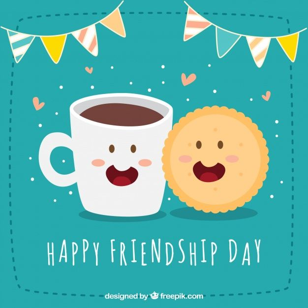 Download Happy Friendship Day Background With Cookie And Coffee For Free Friendship Day Wallpaper Happy Friendship Day Happy Friends Day