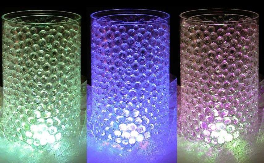dc542f3cb Con florcita sumergible y bolitas de gel en agua , quedan divinos  originales y economicos!