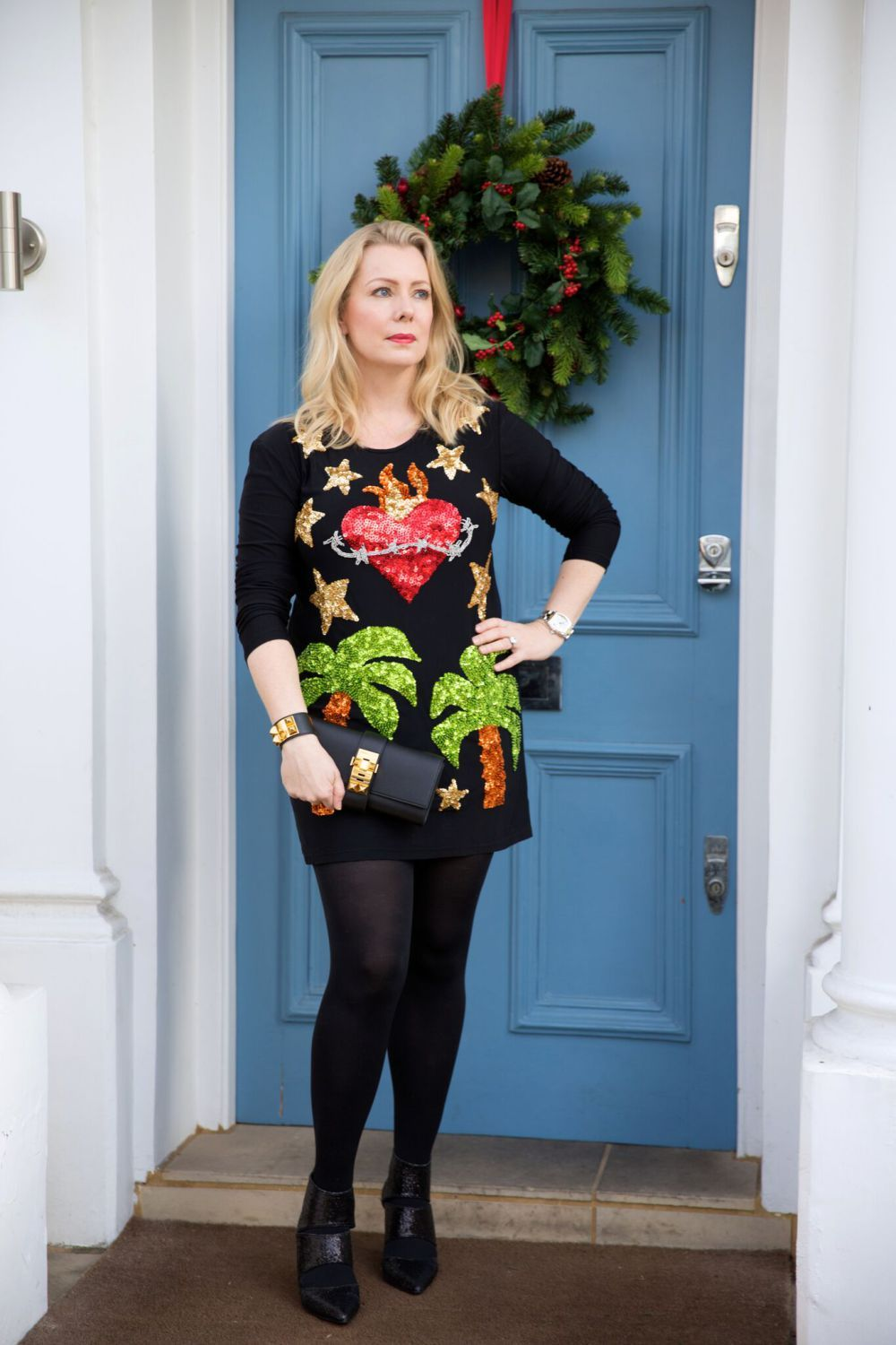 Christmas Party outfits for women over 40 and a Christmas tree farm ...