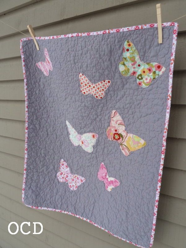 ocd: obsessive crafting disorder: fly, butterfly: a memorial quilt